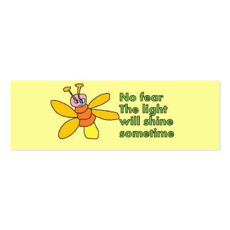 señal positiva de los pensamientos tarjetas de visita mini