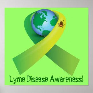 Señal que separa Lyme alrededor de la palabra Póster