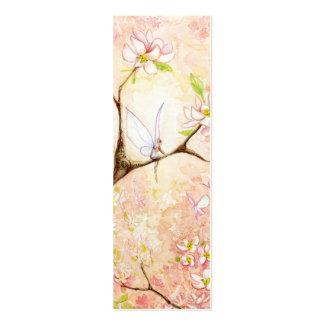 Señal rosada de la opinión del flor tarjeta de visita