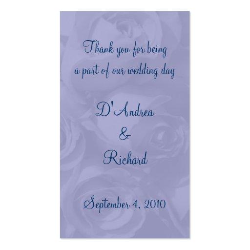 Señal - rosas en azul polvoriento tarjetas de visita