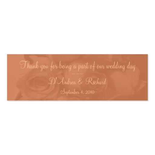 Señal - rosas en el melocotón polvoriento [b] tarjeta de visita