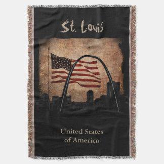 Señal rústica del horizonte de St. Louis de la Manta