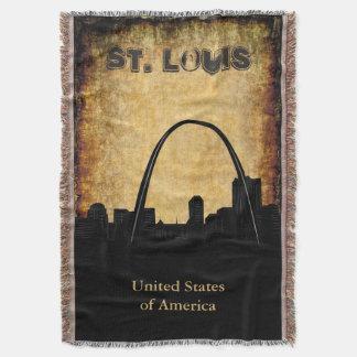Señal rústica del horizonte de St. Louis Manta