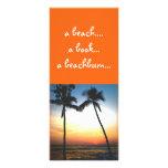 Señal tropical de la puesta del sol lona publicitaria