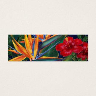 Señal tropical del paraíso tarjetas de visita mini