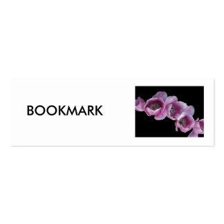 Señal, una onda de tulipanes púrpuras tarjetas de visita mini
