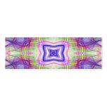 señal verde y púrpura del caleidoscopio tarjetas de visita
