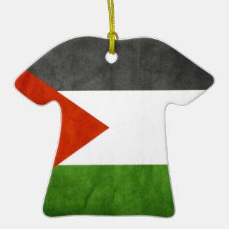 señala Palestina por medio de una bandera Adorno