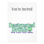 Señalado bebido invitación