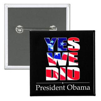 Señalamos sí - el botón por medio de una bandera c