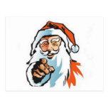 Señalando, Santa de risa Tarjeta Postal