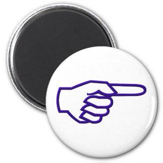 Señalar el dedo imán redondo 5 cm
