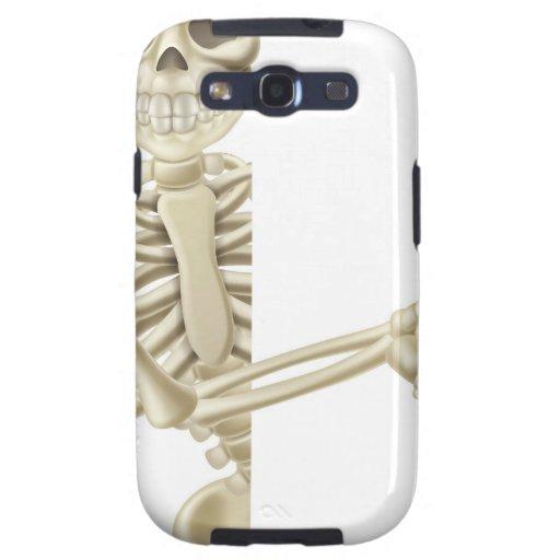 Señalar el esqueleto de Halloween del dibujo anima Galaxy S3 Carcasas