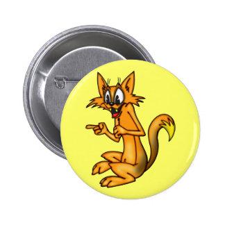 Señalar el gato del dibujo animado del dedo pins