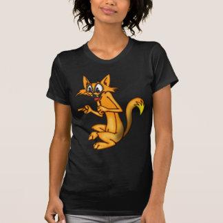 Señalar el gato del dibujo animado del dedo camiseta