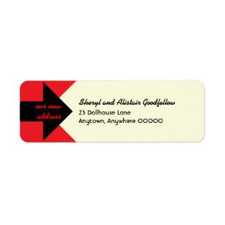 Señalar el remite de la invitación móvil de la etiqueta de remite
