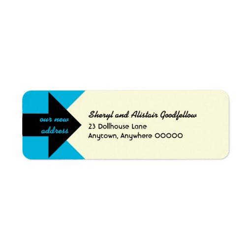 Señalar el remite de la invitación móvil de la etiquetas de remite
