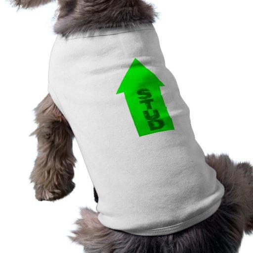 Señalar la flecha camiseta de perrito