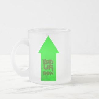 Señalar la flecha taza de café esmerilada