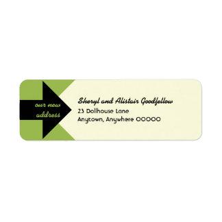 Señalar la invitación móvil de la flecha etiqueta de remite
