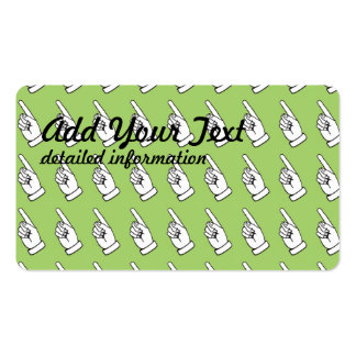 Señalar la menta del dedo tarjetas de visita