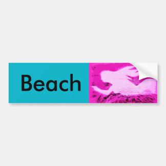 señalar la playa de la sirena pegatina para auto
