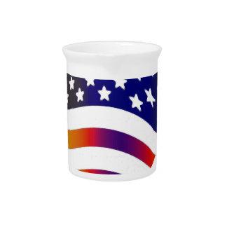 señale las rayas americanas de las tropas por jarron
