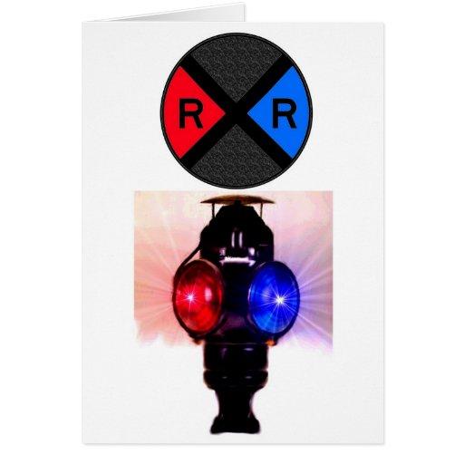 Señales a juego y muestra del ferrocarril tarjeta de felicitación