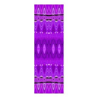 señales abstractas púrpuras plantillas de tarjetas personales