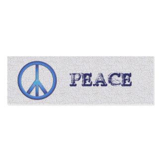Señales azules de la paz tarjetas de visita mini