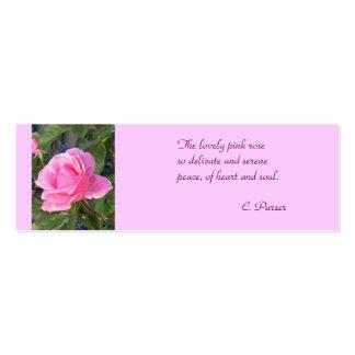 Señales color de rosa mini rosadas tarjetas de negocios