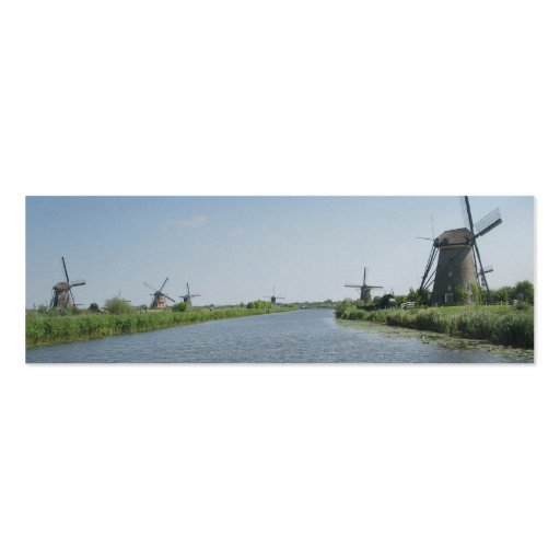 Señales de la foto de Holanda del paisaje de los m Tarjeta De Visita