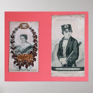 Señales de la reina Victoria y del Príncipe Albert Póster