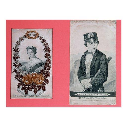 Señales de la reina Victoria y del Príncipe Postales