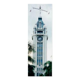 Señales de la torre de la hawaiana mini tarjetas personales