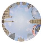 Señales de Londres Plato De Cena