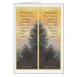 Señales de los regalos del rezo de la serenidad tarjeta