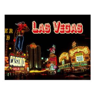 Señales de neón coloridas, Las Vegas, Nevada Postal