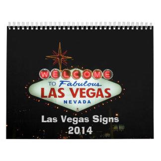 Señales de neón de Las Vegas Calendario