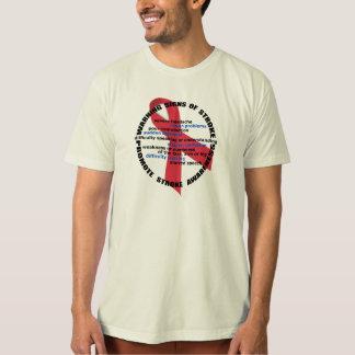 Señales de peligro del movimiento y camiseta playeras