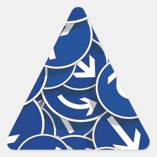 Señales de tráfico, Arrwos Calcomanía De Triangulo Personalizadas