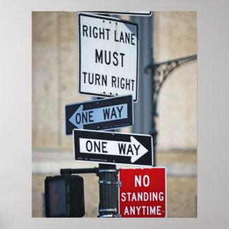 Señales de tráfico póster