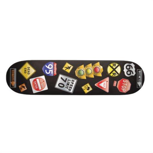 Señales de tráfico skate board