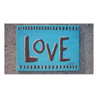 Señales del amor tarjetas de visita