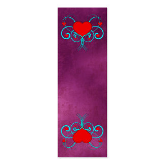 Señales del Grunge púrpura de los corazones del ve Plantillas De Tarjeta De Negocio
