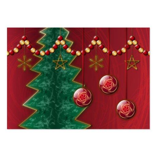 Señales del navidad de la celebración del fractal tarjetas de visita
