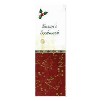 Señales del navidad tarjeta de visita