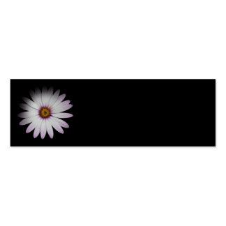 Señales florales de la margarita mini plantilla de tarjeta personal