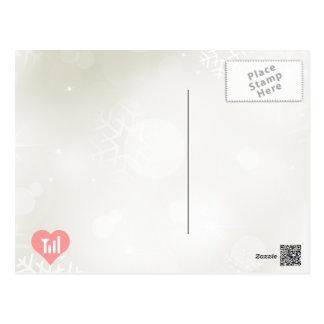 Señales frescas del teléfono celular del amor tarjeta postal