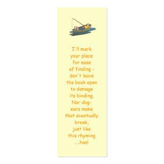 Señales perezosas de la pesca del día del barco tarjetas de visita